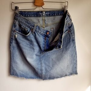 7 For All Mankind Denim Jean Skirt Size 30